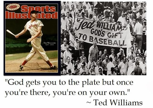 Ted Williams Baseball Quote 1 Picture Quote #1