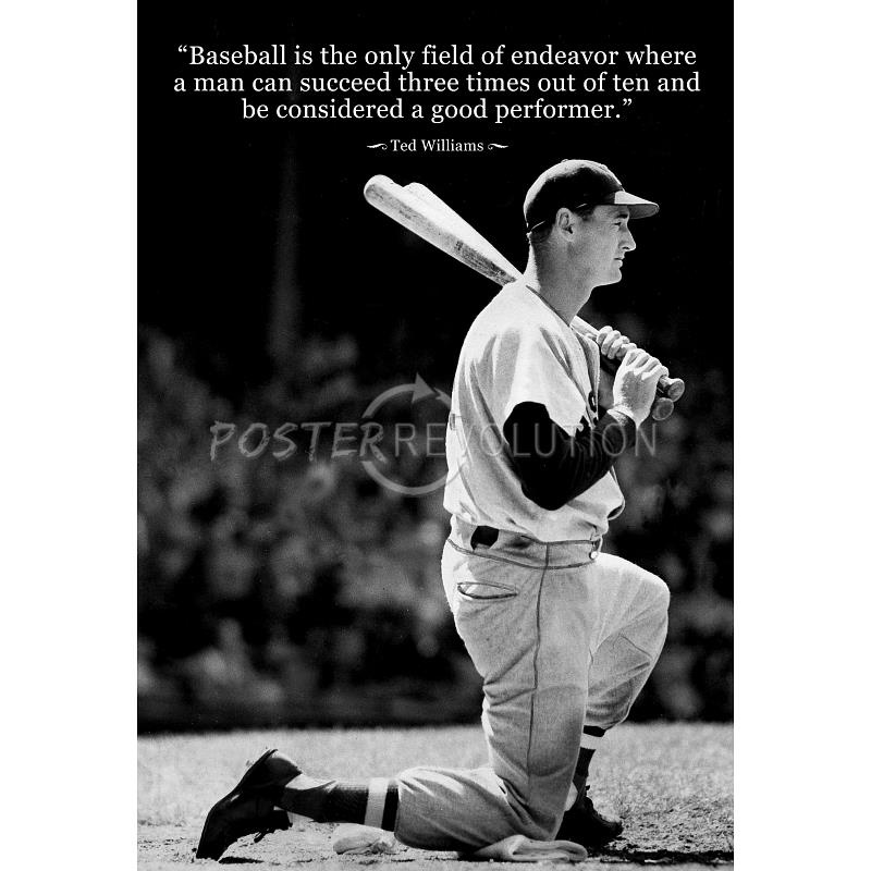 Ted Williams Baseball Quote 2 Picture Quote #1