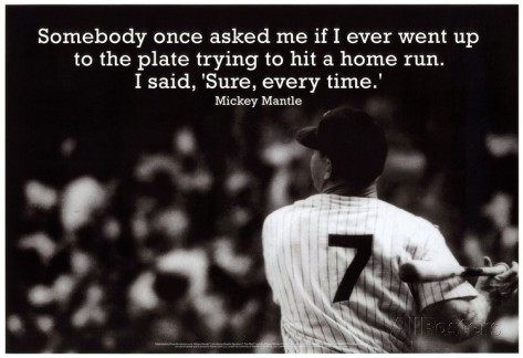 Mickey Mantle Baseball Quote 1 Picture Quote #1
