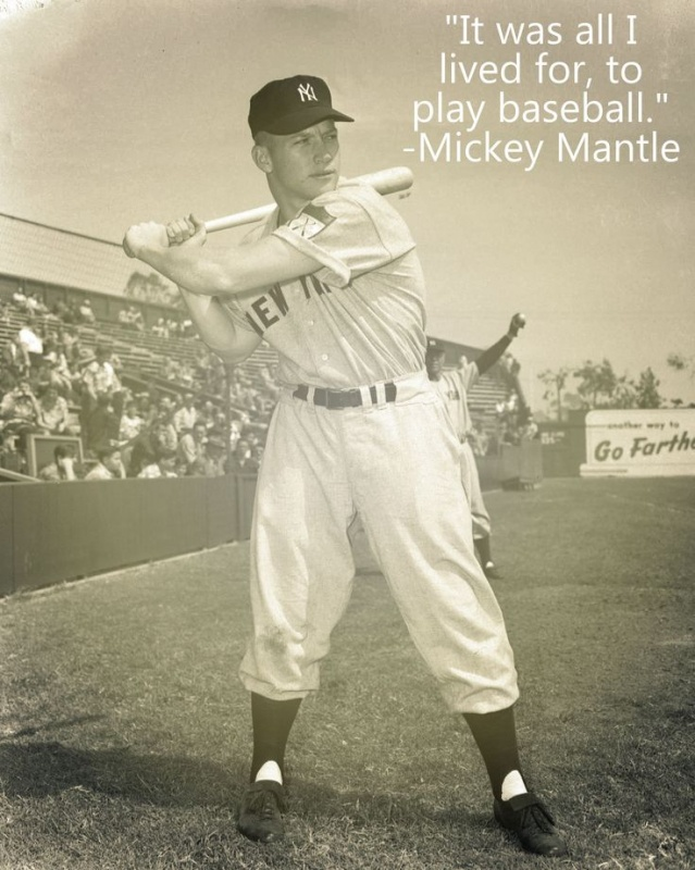 Mickey Mantle Baseball Quote 3 Picture Quote #1