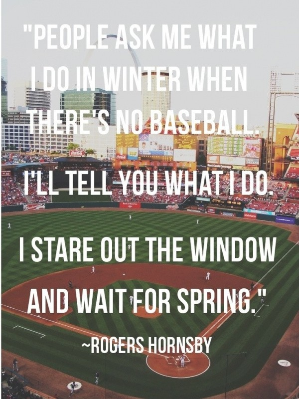 Offseason Baseball Quote 1 Picture Quote #1