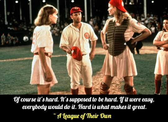 League Of Their Own Baseball Quote 1 Picture Quote #1
