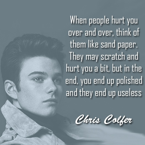 Chris Colfer Bullying Quote 1 Picture Quote #1