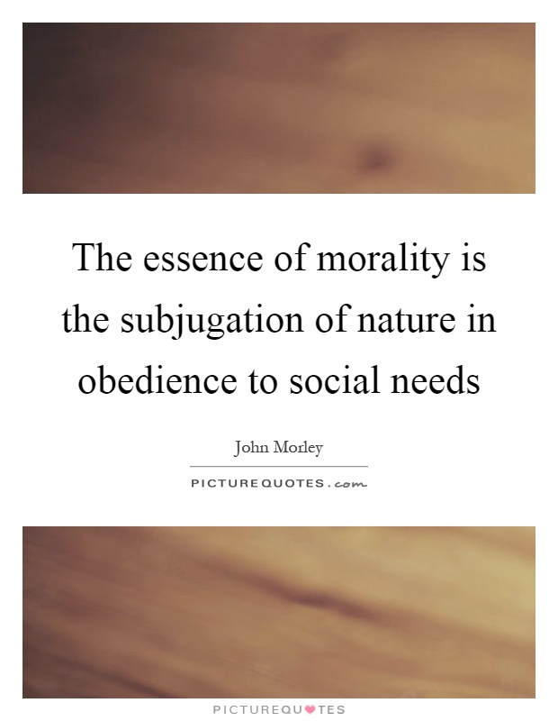The essence of obedience