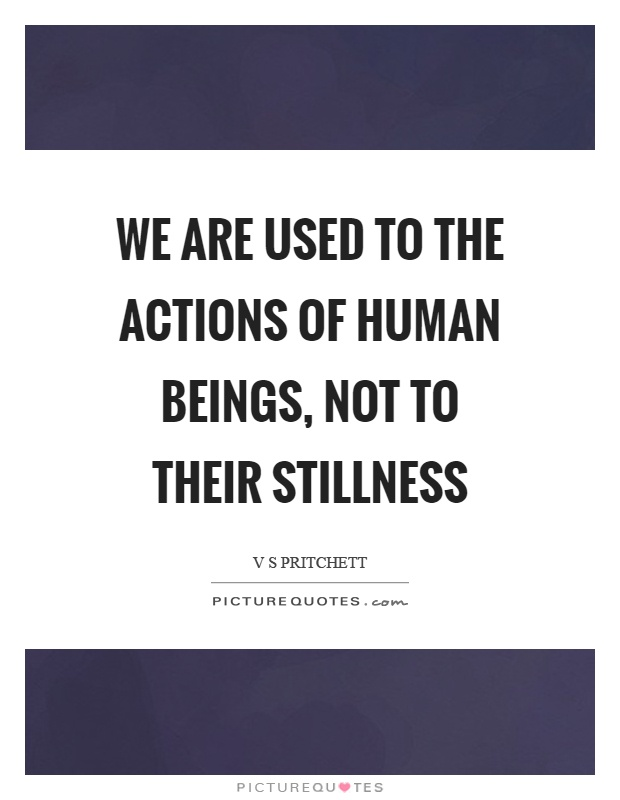We are used to the actions of human beings, not to their stillness Picture Quote #1