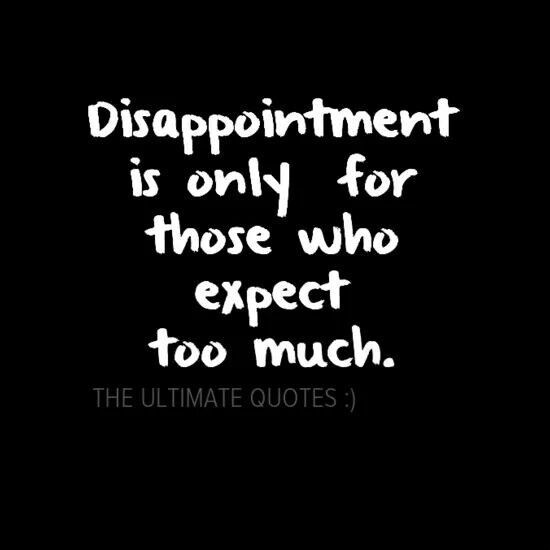 Disappointment Quote 5 Picture Quote #1