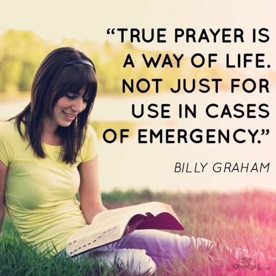 Billy Graham Prayer Quote 1 Picture Quote #1
