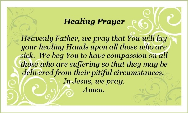 For The Sick Prayer Quote 1 Picture Quote #1