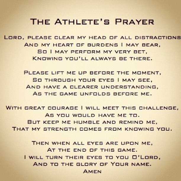 Football Prayer Quote 1 Picture Quote #1