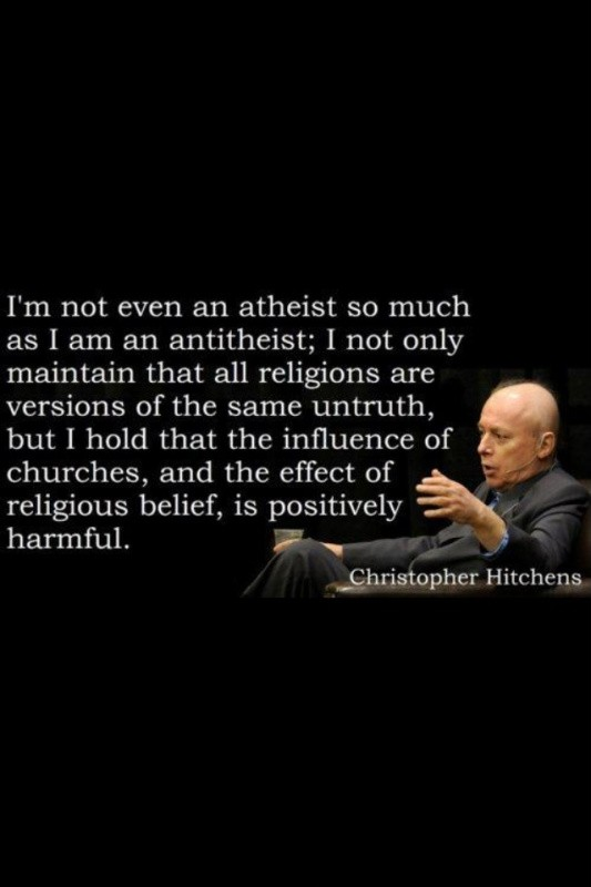 Christopher Hitchens Atheist Quote 1 Picture Quote #1