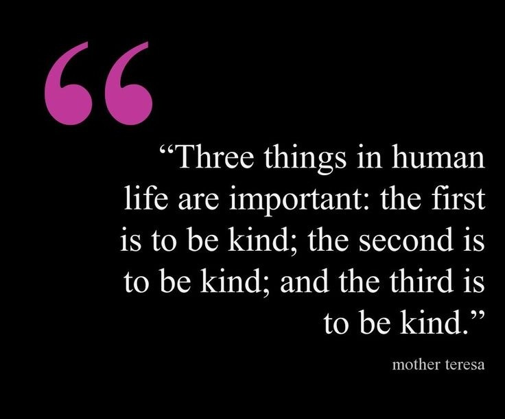 Mother Teresa On Kindness Quote 1 Picture Quote #1