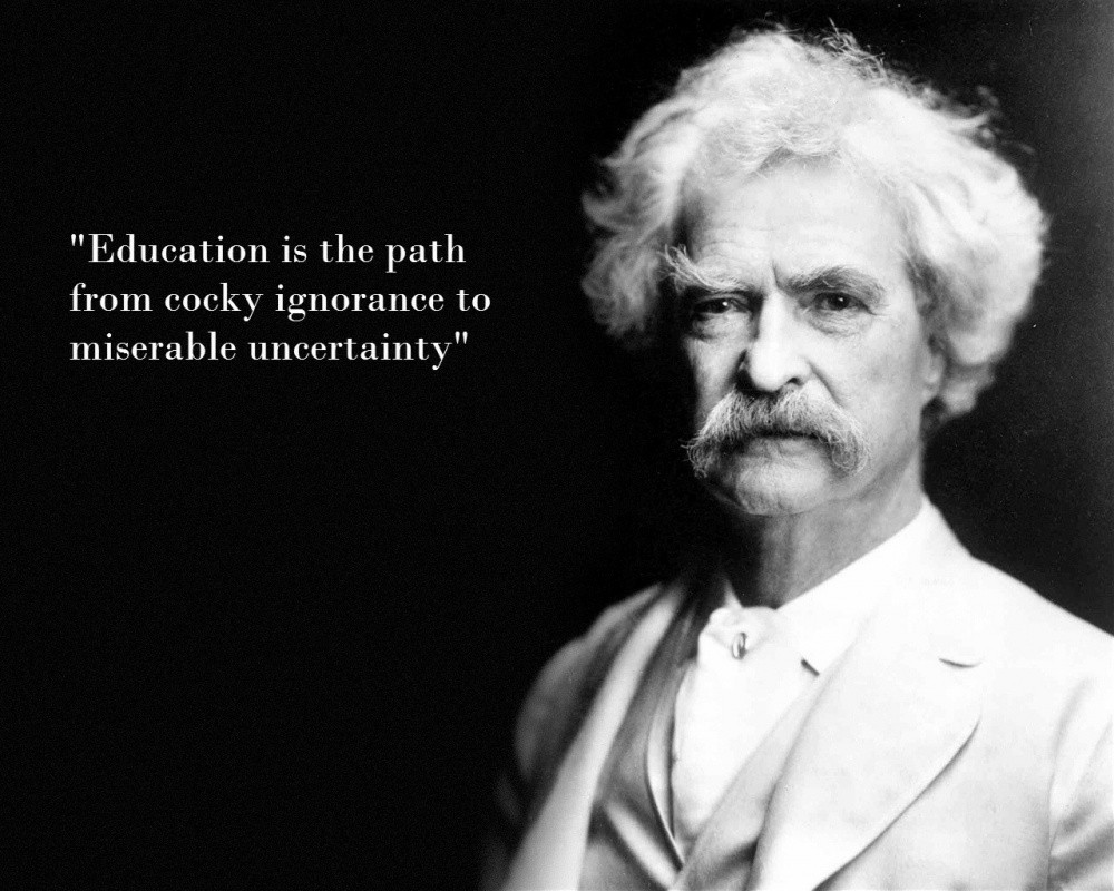 Mark Twain Ignorance Quote 1 Picture Quote #1