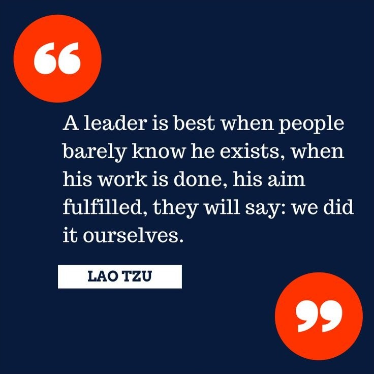 Lao Tzu Quote On Leadership 1 Picture Quote #1