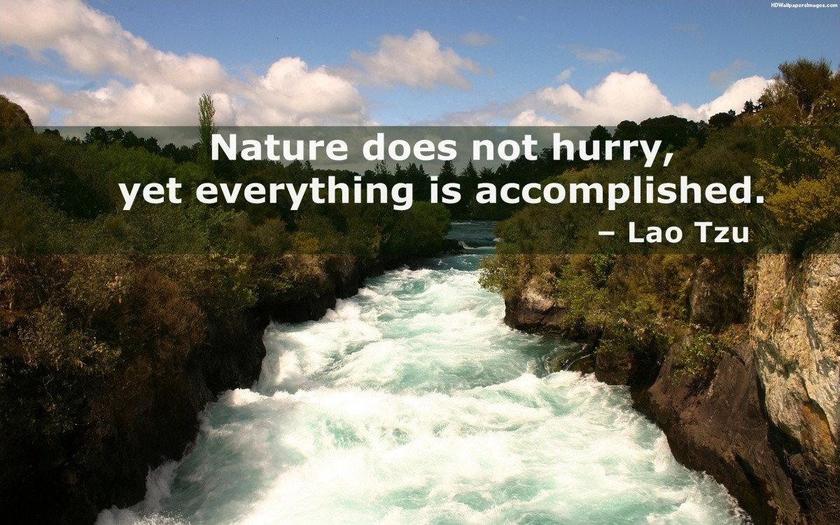 Lao Tzu Quote On Nature 1 Picture Quote #1
