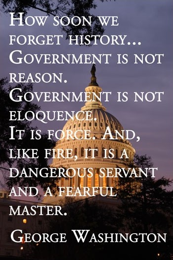 George Washington Quote On Government 1 Picture Quote #1