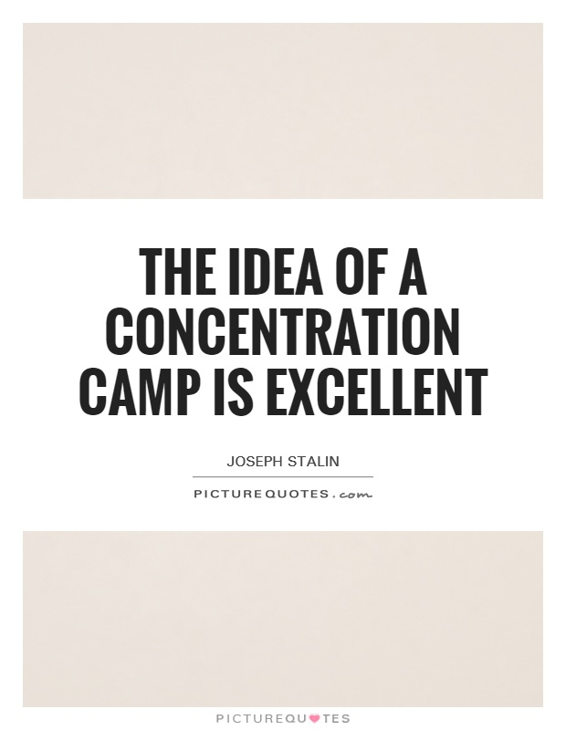 The idea of a concentration camp is excellent Picture Quote #1