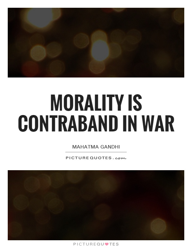 morality in war Précis: the morality and law of war jeff mcmahan the following commentaries are responses to the rough drafts of six lectures — the hourani lectures—that i.