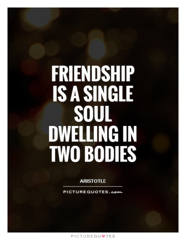 Friendship is a single soul dwelling in two bodies Picture Quote #1