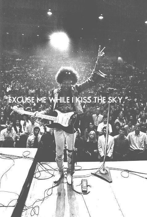 Excuse me while I kiss the sky Picture Quote #2