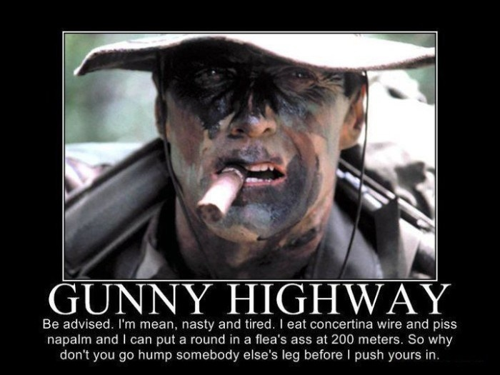 Clint Eastwood Gunny Highway Quote 2 Picture Quote #1