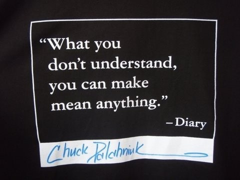Diary Chuck Palahniuk Quote 1 Picture Quote #1
