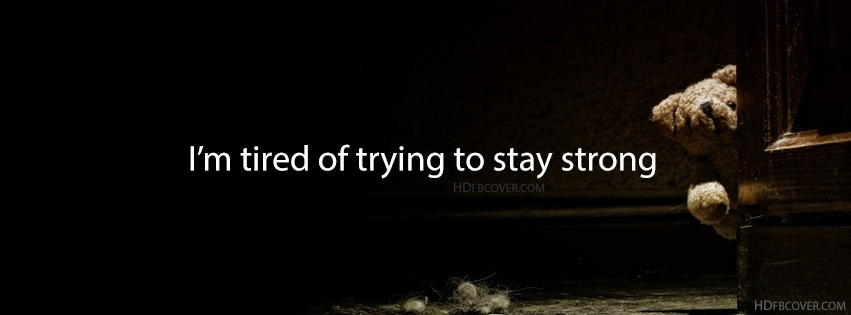 Trying To Stay Strong Quote 1 Picture Quote #1
