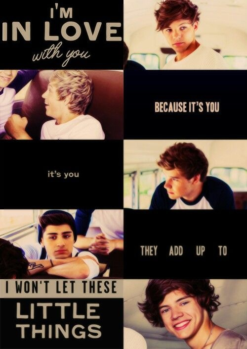 One Direction Little Things Quote 4 Picture Quote #1