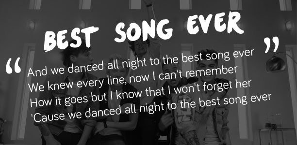 Tag Best Song Ever Lyrics One Direction Lyric
