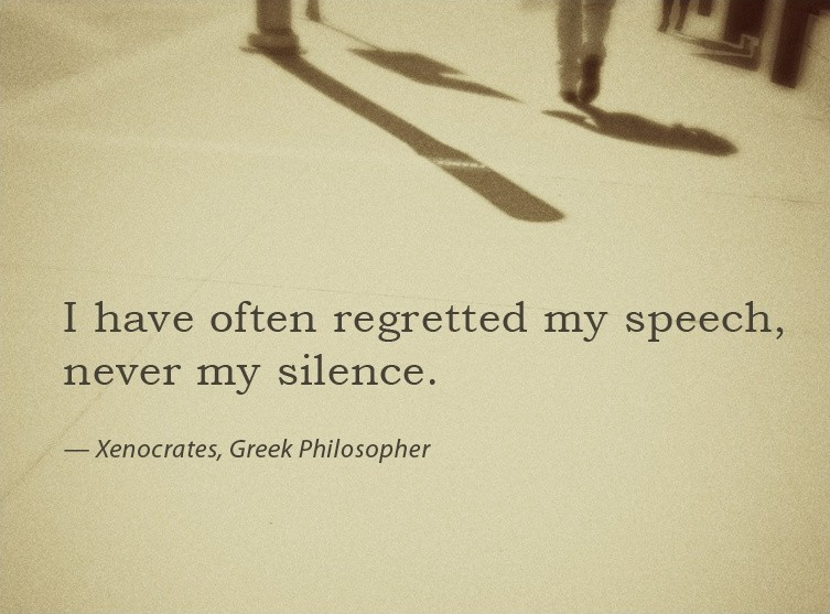 Silence Quote 4 Picture Quote #1