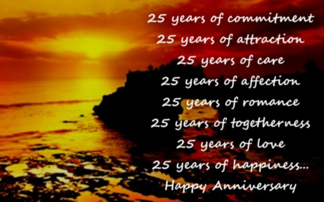 25th Wedding Anniversary Quote 1 Picture Quote #1