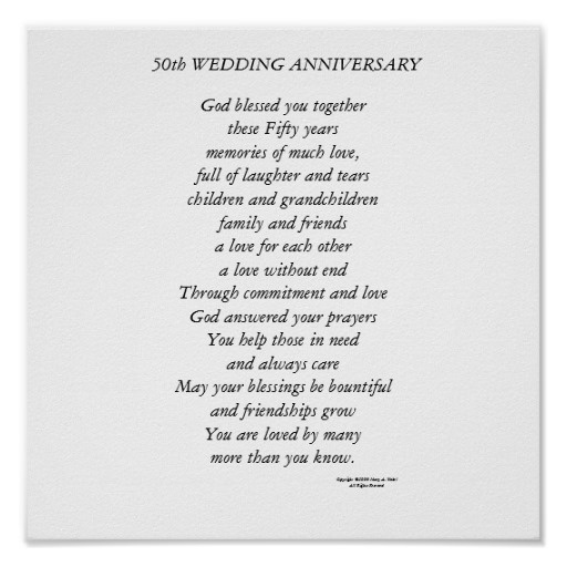 50th Wedding Anniversary Quote And Poems Quote Number 591179