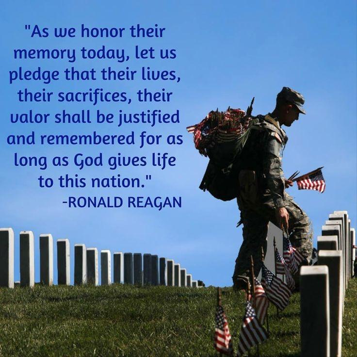 Memorial Day Quote Ronald Reagan 2 Picture Quote #1