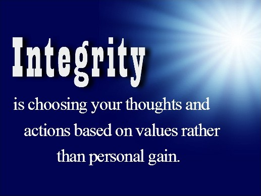 Integrity Quote 1 Picture Quote #1