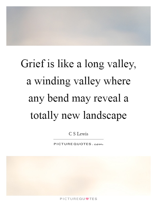 Grief is like a long valley, a winding valley where any bend may reveal a totally new landscape Picture Quote #1