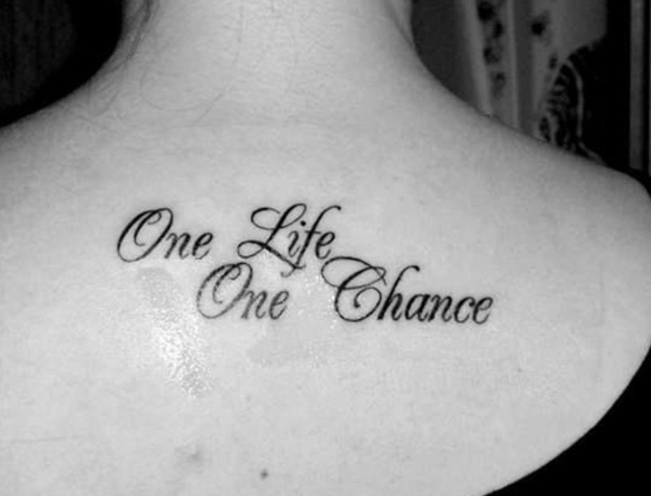 One Life One Chance Quote 1 Picture Quote #1