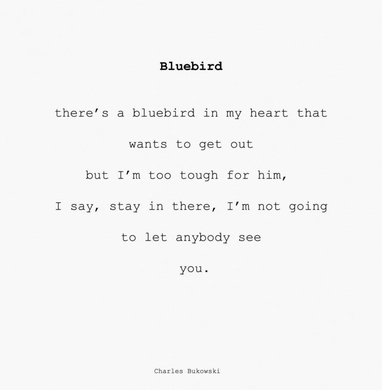 Bluebird Charles Bukowski Quote 1 Picture Quote #1