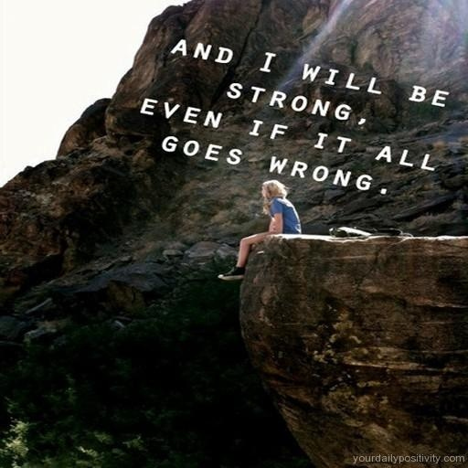 I Will Be Strong Quote 1 Picture Quote #1