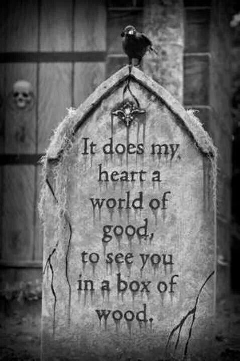 Graveyard Halloween Quote 1 Picture Quote #1