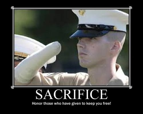Military Sacrifice Quote 1 Picture Quote #1