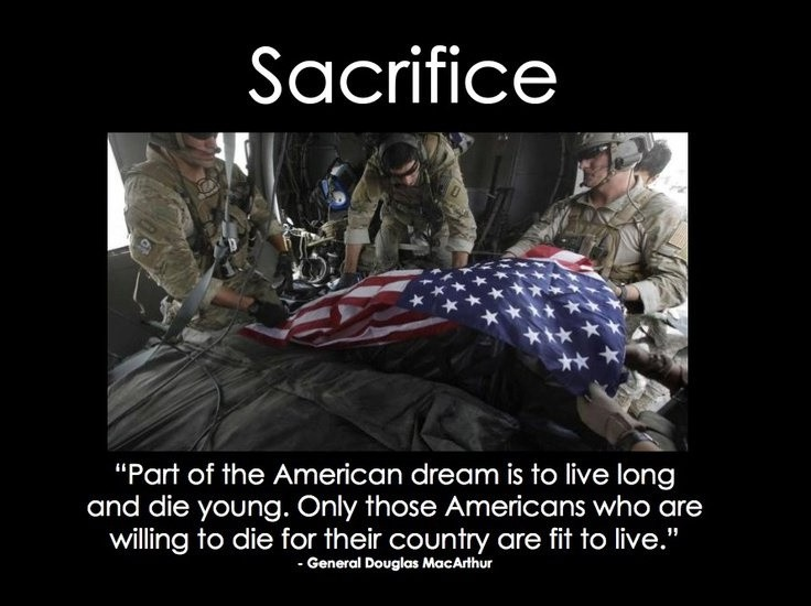 Military Sacrifice Quote 2 Picture Quote #1