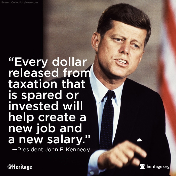 Jfk Quote On Taxes 1 Picture Quote #1