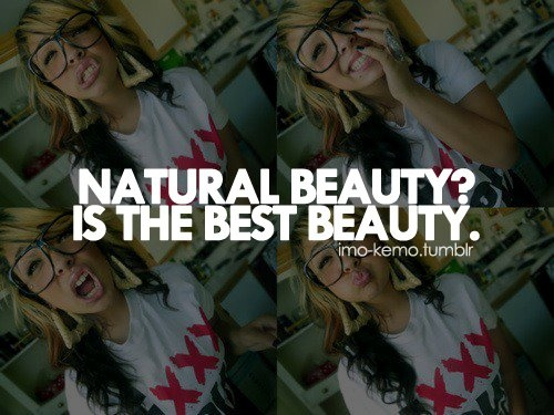 Natural Beauty Quote For Girls 2 Picture 1