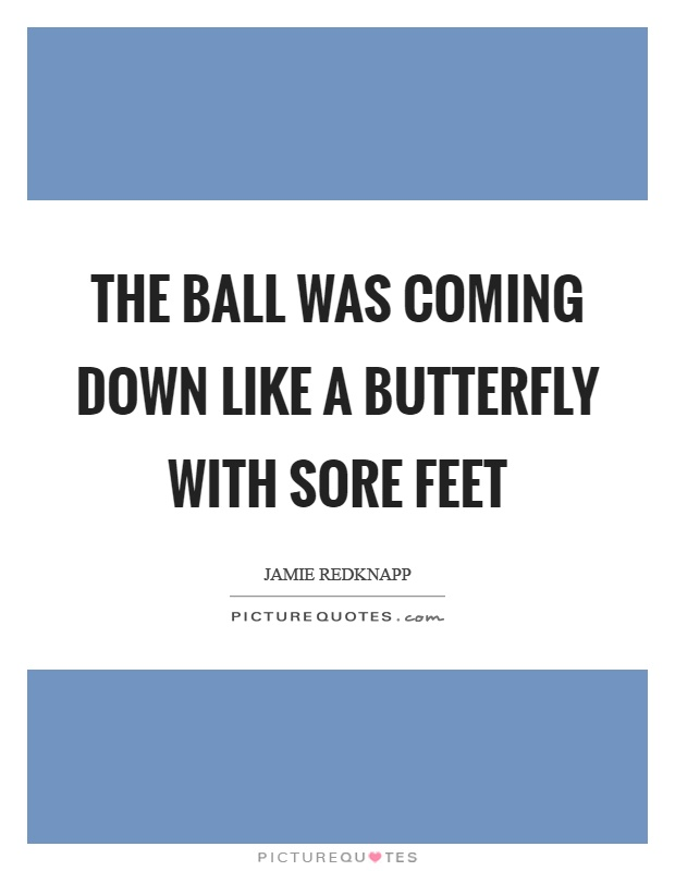 The ball was coming down like a butterfly with sore feet Picture Quote #1