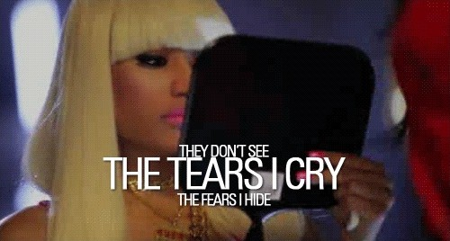 Nicki Minaj Crying Quote 1 Picture Quote #1