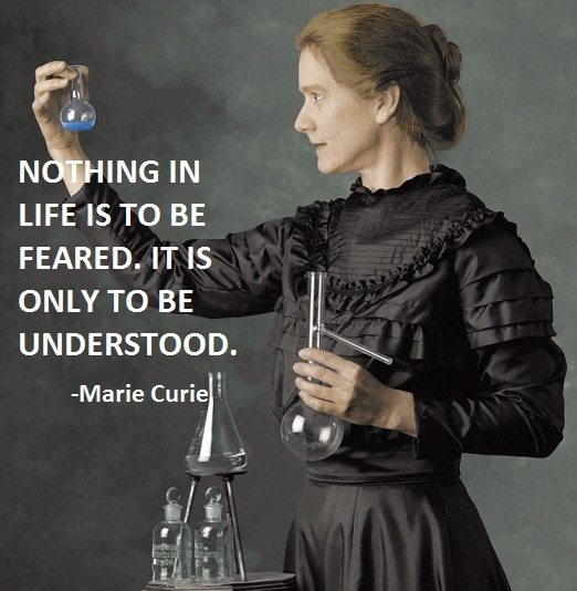 Marie Curie Science Quote 1 Picture Quote #1