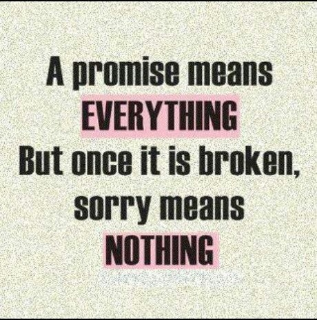 Keep Your Promise Quote 1 Picture Quote #1