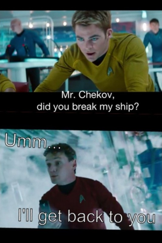 Chekov Star Trek Quote 1 Picture Quote #1