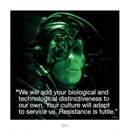 Star Trek Borg Quote 1 Picture Quote #1