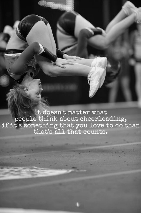 Inspirational Cheerleading Quote 3 Picture Quote #1