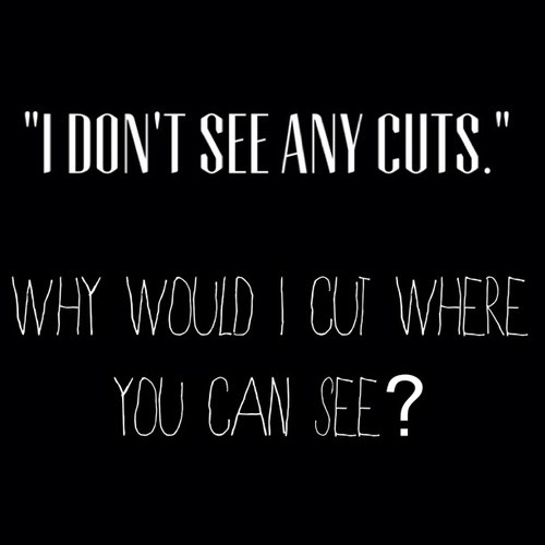 Self Harm Cutting Quote 1 Picture Quote #1
